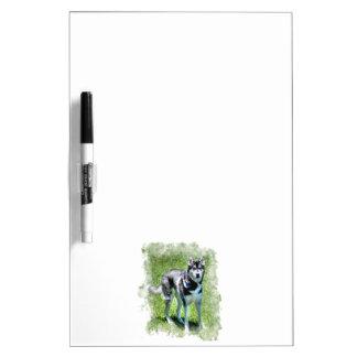Siberian Husky Dog-lover's Pet Gift Series Dry Erase Whiteboard