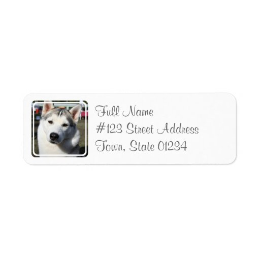 Siberian Husky Dog Mailing Label Return Address Label