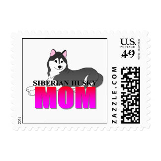 Siberian Husky Dog Mom Stamp