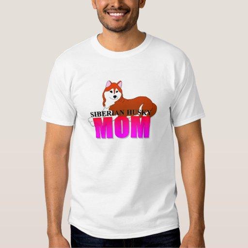 Siberian Husky Dog Mom T Shirt