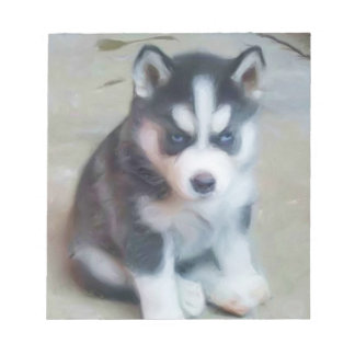 Siberian Husky dog Notepad