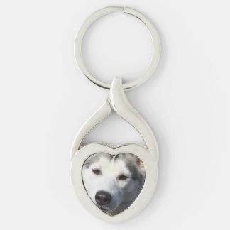 Siberian Husky Dog Photo Key Chain