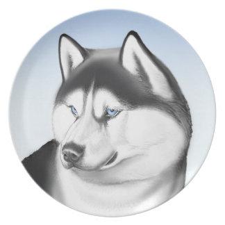 Siberian Husky Dog Plate