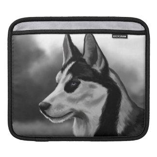 Siberian Husky Dog Portrait Digital Art iPad Sleeve