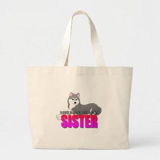 Siberian Husky Dog Sister Jumbo Tote Bag