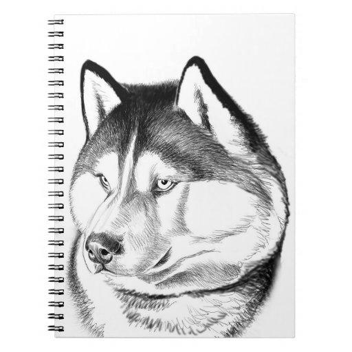 Siberian Husky Dog Sketch Notebook