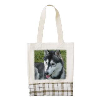 Siberian Husky Dog Zazzle HEART Tote Bag