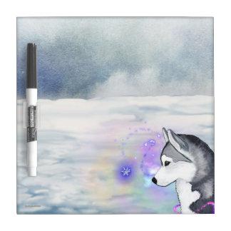 Siberian Husky Dry Erase Board