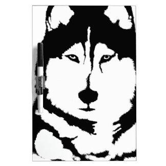 Siberian Husky Dry-Erase Board