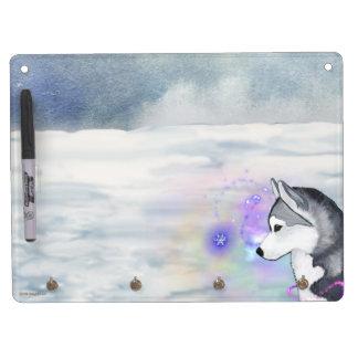 Siberian Husky Dry Erase Board Rosette Holder