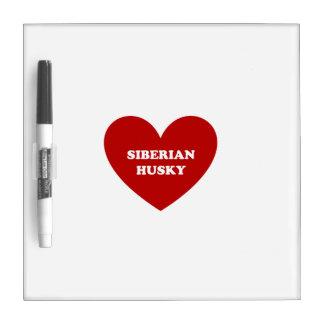 Siberian Husky Dry Erase Boards