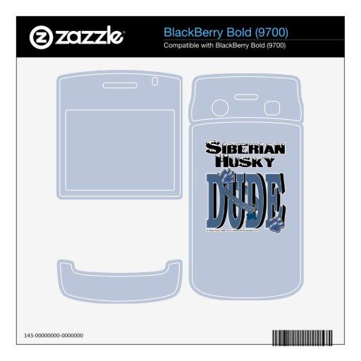 Siberian Husky DUDE Skin For BlackBerry Bold