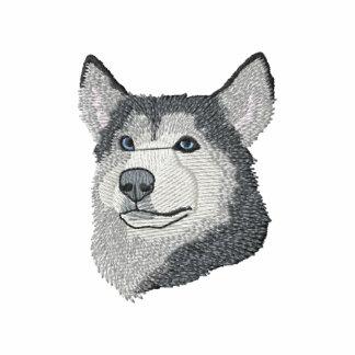 Siberian Husky Embroidered Hoodie