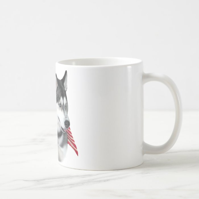 Siberian Husky Flag Coffee Mug