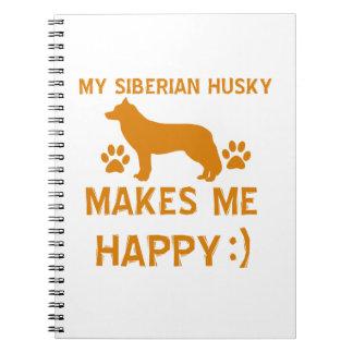 Siberian Husky gift items Notebooks