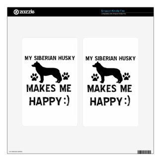 Siberian Husky gift items Skin For Kindle Fire