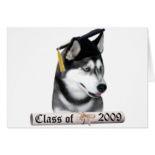 Siberian Husky Grad 09 Card