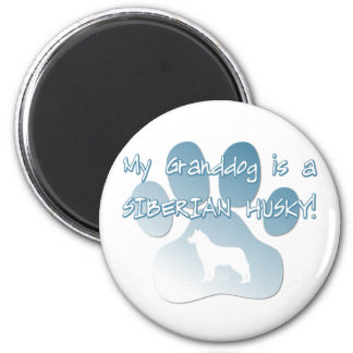 Siberian Husky Granddog 2 Inch Round Magnet