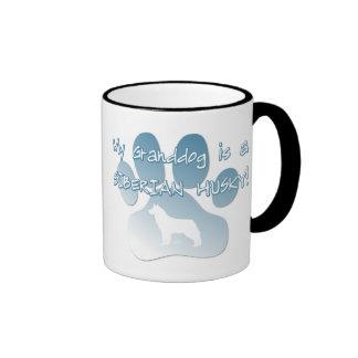 Siberian Husky Granddog Ringer Mug