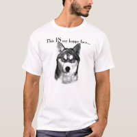 Siberian Husky Happy Face T-Shirt