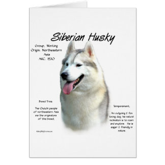 Siberian Husky History Design Card