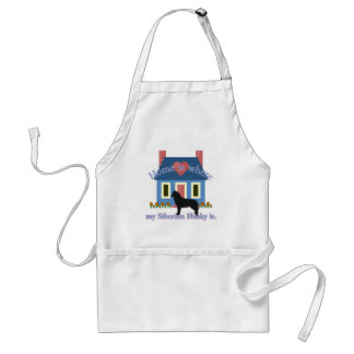 Siberian Husky Home Is Adult Apron