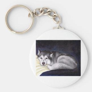 Siberian Husky Key Chains