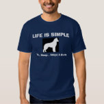 Siberian Husky - Life is Simple - Adopt A Husky T-Shirt