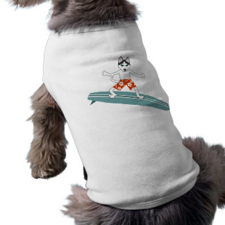 Siberian Husky Longboard Surfer T-Shirt