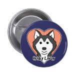 Siberian Husky Lover 2 Inch Round Button