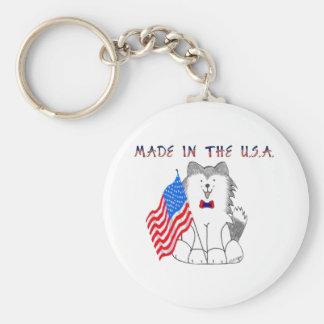 Siberian Husky Made In The USA Keychain