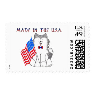 Siberian Husky Made In The USA Postage Stamps
