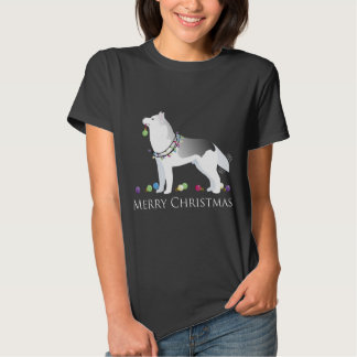 Siberian Husky Merry Christmas Design Shirt