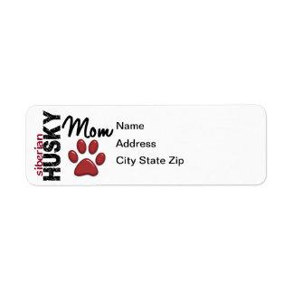 Siberian Husky Mom 2 Label