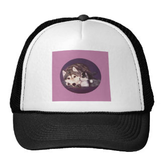 Siberian Husky Mom and Pup Trucker Hat
