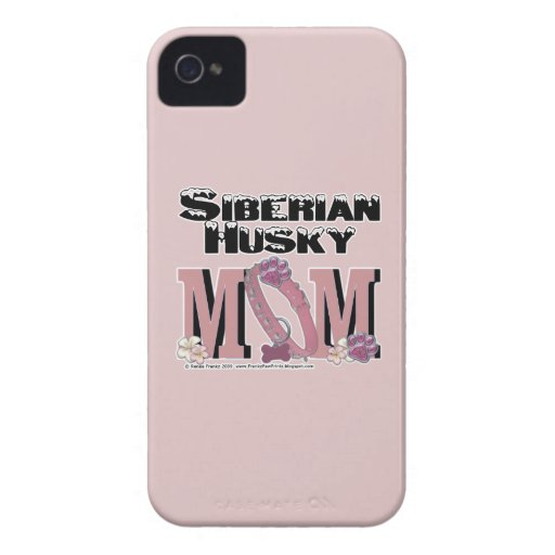 Siberian Husky MOM Case-Mate iPhone 4 Cases