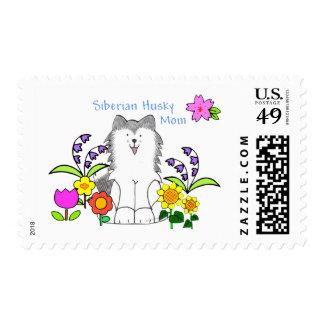 Siberian Husky Mom Stamps