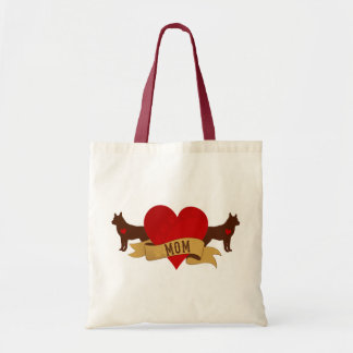 Siberian Husky Mom [Tattoo style] Tote Bag