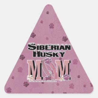 Siberian Husky MOM Triangle Sticker