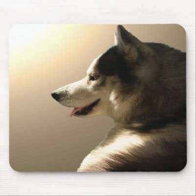 Siberian Husky Mousepad Gifts Malamute Sled Dogs $ 10.95