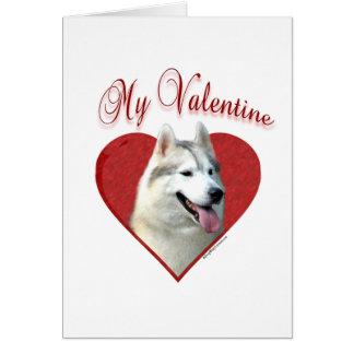 Siberian Husky My Valentine Card