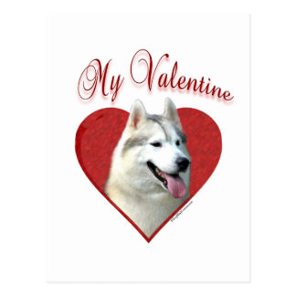 Siberian Husky My Valentine Postcard