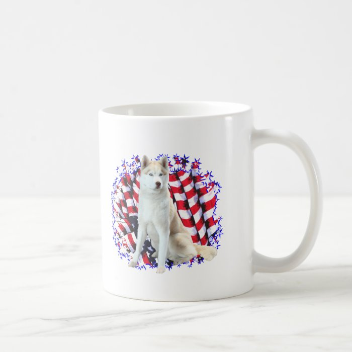 Siberian Husky Patriot Coffee Mug