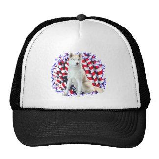 Siberian Husky Patriot Trucker Hat
