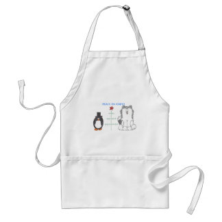 Siberian Husky Peace On Earth Adult Apron