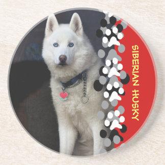 Siberian Husky Photo Coaster