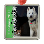 Siberian Husky Photo Metal Ornament