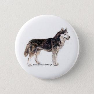 Siberian Husky! Pinback Button
