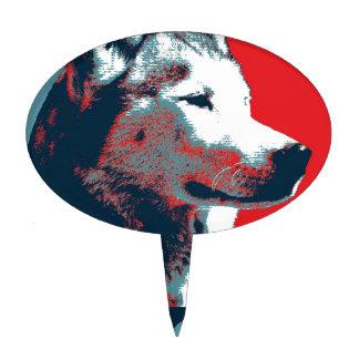Siberian Husky Political Parody Poster Cake Topper