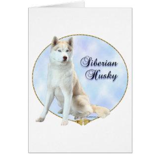Siberian Husky Portrait Card